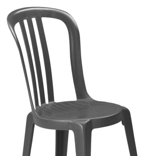 Kunststof stapelstoel antraciet-0